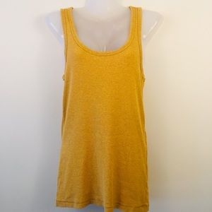 Mustard racer back tank by George size large
